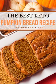 Flourless pumpkin Keto Bread Recipe Easy homemade bread pumpkin keto recipe for the holiday. Keto Foods, Keto Snacks, Keto Recipes, Dessert Recipes, Keto Meal, Pumpkin Recipes Keto, Dinner Recipes, Healthy Recipes, Low Carb Sweets