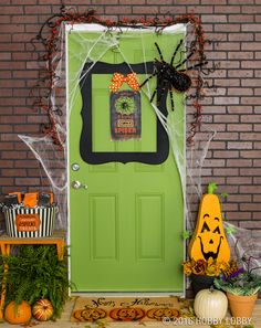 Make your doorstep the talk of the town with spooky-cute decor!
