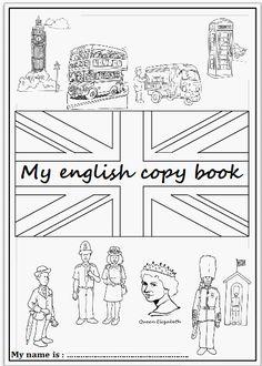 Pages de garde du cahier d'Anglais - L'école de petite Prune
