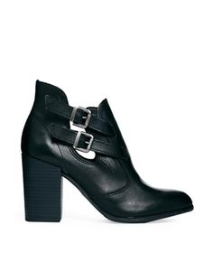 ASOS ENDLESS LEATHER ANKLE BOOTS