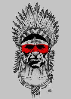 Geometric Tattoo Indian, Geometric Bear Tattoo, Indian Skull Tattoos, Indian Tattoo Design, Skull Hand Tattoo, Native American Tattoos, Native Tattoos, Native American Art, Body Art Tattoos
