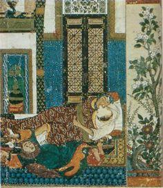 Fig. 7: Kalila et Dimna, manuscrit illustré de l'école de Tabriz, 1374.