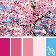 Spring inspiration | 25 color palettes inspired by the PANTONE color trend predictions for Spring 2018 - Use these color schemes as inspiration for your next colorful project! Check out more color schemes at www.sarahrenaeclark.com #color #colorpalette
