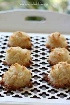 Easy Coconut Almond Macaroons- low carb, gluten free, sugar free, dairy free, but oh so yummy! A THM S dessert or snack!