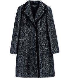 Giambattista Valli Black Wool-Blend Coat