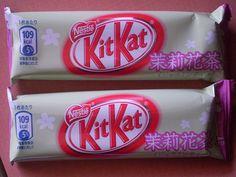 Japanese kit kat #food #japan jasmine tea flavour kit kat