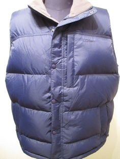 LL Bean Goose Down Vest Puffy Navy Men Sz XL Puffer Hiking Hunting Outdoor Camp #LLBean