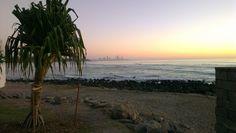 Burleigh Beach, Queensland, Australia this morning