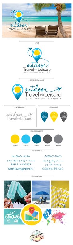 Outdoor Travel and Leisure Logo and Brand Style Design