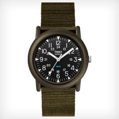 A watch as rugged and stylish as you are. This classic outdoor watch features easy-to-read luminescent hands and markers, a durable strap and is water resistant up to 100 meters (varies by style).<br>