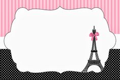 Free Paris Party Invitations.