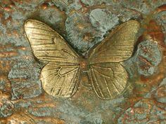 """acollectionofquaint:    """"BUTTERFLY ~ OLD GOLD ~ RESIN 3D CANVAS """" by LacewingDesign 