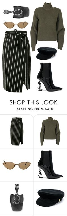 """#196"" by minia001 ❤ liked on Polyvore featuring Balenciaga, Cartier, Yves Saint Laurent, Alexander Wang and Manokhi"
