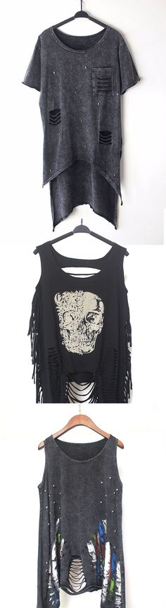 Shop ripped punk women's tops at RebelsMarket.
