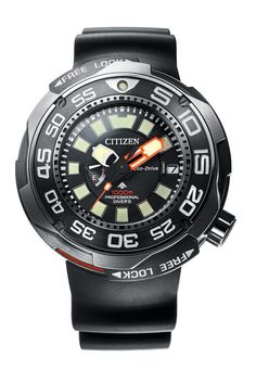 Vintage Watches Citizen Eco-Drive Professional Diver Ref. - Citizen unveils the first solar-powered, dive watch. Amazing Watches, Cool Watches, Watches For Men, Wrist Watches, Men's Watches, Rolex Daytona, Audemars Piguet, Patek Philippe, Casio Protrek