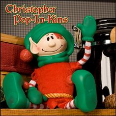 Christopher Pop-In-Kins is WAAAAY cuter than Elf on the Shelf, people!  We bought him three years ago and my kid's favorite part of December is looking for the elf each morning.  Elf on the Shelf can only sit.  Christopher has wire arms and legs and you can wrap him around anything.  Buy this one.  You'll be glad you did.  He comes with a story book as well.