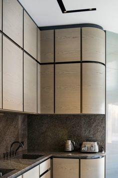 curved cupboards
