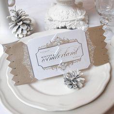 gold wonderland christmas cracker card by cracker cards | notonthehighstreet.com