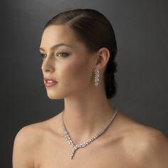 Glamorous Cubic Zirconia Drop Wedding Jewelry Set - simply stunning! - Affordable Elegance Bridal -