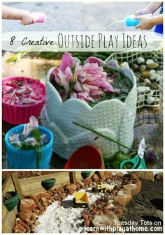 Learn with Play at home: 8 Creative Outside Play Ideas for kids