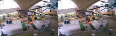 Exquisite Aviation Flab Museum in Dubendorf. Example of stereo card created with 3DWiggle.