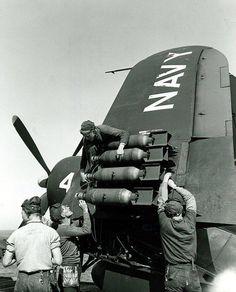 Loading an F4U Corsair