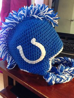 Indianapolis Colts Inspired Beanie Hat Newborn-Adult on Etsy, $15.00