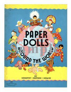 Paper Doll Vintage Around the World Paper Dolls PDF Book Digital Download Paper Art Dolls + BONUS Booklets by TateMuseumOnline on Etsy https://www.etsy.com/listing/176354425/paper-doll-vintage-around-the-world