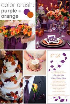Purple and Orange Wedding Color Crush