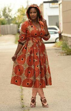 Hooded Ankara look ~African fashion, African prints African Inspired Fashion, Latest African Fashion Dresses, African Print Dresses, African Print Fashion, Africa Fashion, Ethnic Fashion, African Dress, Fashion Prints, African Prints
