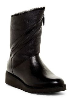 Lorna Genuine Shearling Lined Wedge Boot