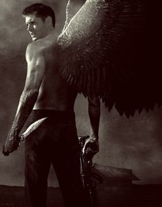 ANGEL WITH A SHOTGUN<<<< I have a feeling that if Dean would have a son with an angel this is how he would look