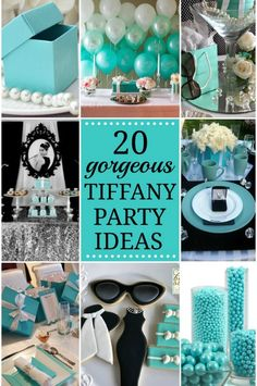 20 Breakfast at Tiffany�s Party Ideas Video! #breakfastattiffanys #tiffany #party