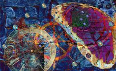 """Geometria Sagrada by kaj. """"The divine signature traces its course through infinite levels of reality, from quarks to quasars. Somewhere in between, we dream, catching brief glimpses of the universe through which we fly."""""""