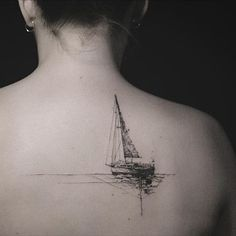 Boat back tattoo – 100 Boat Tattoo Designs ♥ ♥ Related posts: Cute And Small Tattoos for GirlsThese small tattoo designs (ideal for finger. - Tattoo designs for sale Forarm Tattoos, Life Tattoos, Body Art Tattoos, Hand Tattoos, Ship Tattoos, Arrow Tattoos, Tattos, Key Tattoos, Irezumi Tattoos