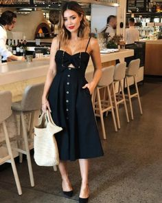 Weekend style✔️ wears the Beachcomber dress, available in peach too Cute Dresses, Casual Dresses, Casual Outfits, Fashion Mode, Womens Fashion, Style Fashion, Korean Fashion, Girl Fashion, Dress Outfits