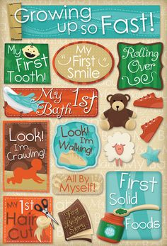 Baby's First Cardstock Stickers - Growing Up - Click to enlarge