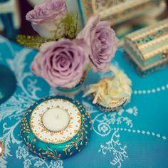 Precious Turquoise - an eclectic wedding collection, combining antique… Eclectic Wedding, Wedding Decorations, Table Decorations, Event Design, Wedding Designs, Wedding Details, Hand Painted, Turquoise, Antiques