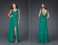green dresses by la femme collections