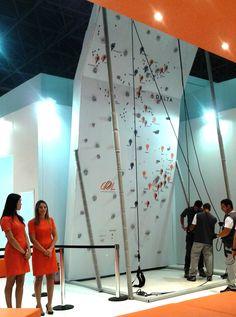 Parede de escalada alpinismo para eventos