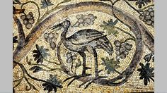 Baltimore Museum of Art Ancient Roman mosaic scene from the House of the Bird Rinceau. Antioch. 6th century AD