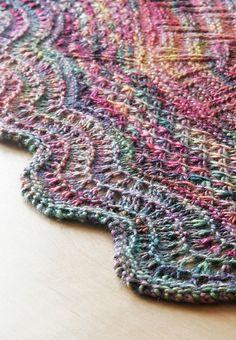 Geology Shawl by verybusymonkey. malabrigo Silky in Arco Iris