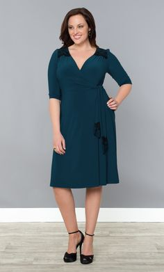 Check out the deal on Julieanne Wrap Dress at Kiyonna Clothing.  So lovely.