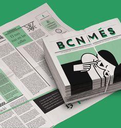 BCN Més newspaper redesign on Behance Newspaper Design Layout, Book Layout, Layout Design, Print Design, Web Design, Editorial Layout, Editorial Design, Bulletins, Book And Magazine