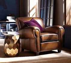 It's easy to kick back and relax when you know you're sitting in a handcrafted, high quality leather chair.