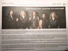 #wuppertalerstadtzeitung #crystalball #dejavoodoo #swiss #hardrock #crystalballrocks #stevenmageney #wuppertal Hard Rock, Press Release, Crystal Ball, Movie Posters, Art, Art Background, Film Poster, Kunst, Performing Arts