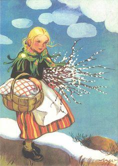 Martta Wendelin 53760 - not available Vintage Cards, Vintage Postcards, Vintage Books, Girl Face Drawing, Swedish Girls, Christmas Art, Vintage Children, Atc, Cute Art