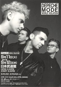 old musical posters depeche mode - Google Search
