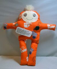 """Great item to have for All TRUE Clemson Fans.         The doll is approx 12 inches tall and contains a poem:    """"When things aren't going as well as you wish, and you want to scream and shout; Here's a little dammit doll you just can't live without.  Simply grab it by the legs, finda place to slam it; And as you beat the livin' stuffin' out of it yell: DAMMIT DAMMIT DAMMIT!"""""""
