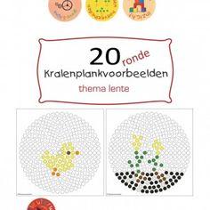Voor het thema lente maakte Bianca Oldenbeuving 20 voorbeelden voor de ronde kralenplank.